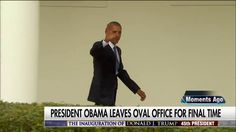 President Obama leaves the Oval Office for the final time.