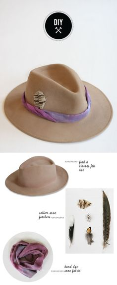 DIY - Hazlo tu mismo - DIY - Dress up a vintage hat