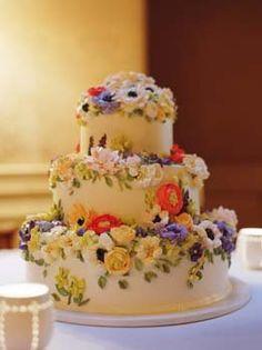 wildflower wedding cake - Google Search