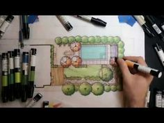pictures of backyard landscaping Architecture Building Design, Landscape Architecture, Landscape Design, Garden Design, Residential Landscaping, Backyard Landscaping, Design Tutorials, Design Process, Markers