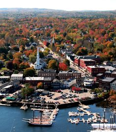 Camden, ME, the perfect little New England harbor town.