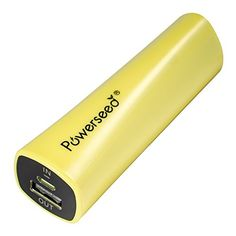 Powerseed� Rainbow, 2.400 mAh (Gelb) Wiederaufladbare Notfallbatterie. Externer Notfall Akku f�r 1 volle Zusatzladung f�r das iPhone5s und das iPhone6, 75% Zusatzleistung f�r das Samsung Galaxy S6