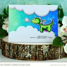 Stamps: Magical Dragons Die-namics: Magical Dragons, Stitched Cloud Edges Rachel Alvarado #mftstamps