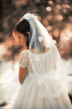 Veil First Communion Veil Flower Girl Veil by ButterCreamDolls, $35.00