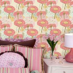 Papel de parede adesivo flor - StickDecor | Decoração Criativa