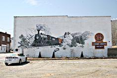 Stephen Shoemaker's The Virginia Creeper Mural, West Jefferson, NC