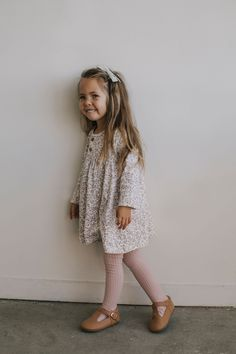 Adorable casual stylish toddler girl long sleeve dress in floral print. Perfect with leggings for a fall outfit. Stylish Toddler Girl, Toddler Girl Fall, Toddler Girl Style, Toddler Girl Outfits, Toddler Fashion, Kids Fashion, Stylish Baby, Toddler Shoes, Toddler Girls Clothes