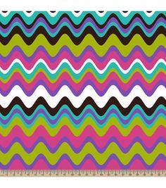 Anti-Pill Fleece Fabric Funky Stripe Chocolate