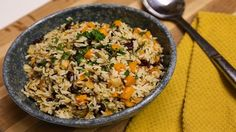 This vegetarian dish is brimming with flavor. Wild Rice, butternut squash and fresh parsley make it a warm, filling, and comforting winter dish.