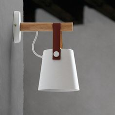 LED Wall Lamps Abajur for Living Room Wall Sconces Light Nordic Wooden belt Wall Light White/Black - The Nordic Hut
