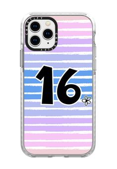 CASETiFY iPhone 11 Pro Case - Sweet 16 heart pink blue ombre stripes by Blue Paper Garden Blue Ombre, Pink Blue, Iphone 11 Pro Case, Iphone Cases, 16th Birthday Gifts For Girls, 2015 Ipad, Apple Watch Models, Apple Watch Series 2, Facebook Photos
