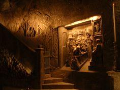 Wieliczka Salt Mine - Polish salt miners carved all this out of salt.