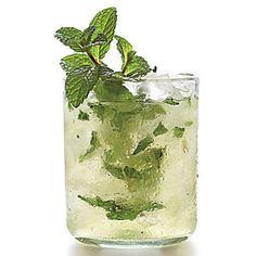 Mint-Champagne Shrub:  mint, sugar, elderflower liqueur, Champagne vinegar, lemon, lime, sparkling wine