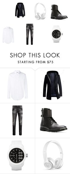 """BLACK AND WHITE"" by zvac-anca-teodora ❤ liked on Polyvore featuring Gucci, Jack & Jones, Alexander McQueen, Diesel, Beats by Dr. Dre, men's fashion and menswear"