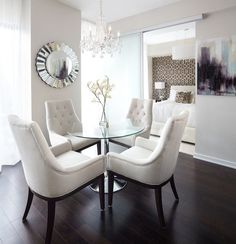 Small Condo Interior Design, Pictures, Remodel, Decor and Ideas - page 89 Condo Living, Apartment Living, Living Room Decor, Classy Living Room, White Apartment, Apartment Chic, Dining Decor, Decor Room, Tiny Living