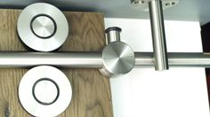 There are basically two types of barn door hardware. The first is a rustic, flat track sliding door system The second is a more modern roller and track style Cheap Barn Doors, Barn Doors For Sale, Double Barn Doors, Barn Door Window, Barn Door In House, Diy Barn Door, Sliding Door Track, Sliding Door Systems, Sliding Doors