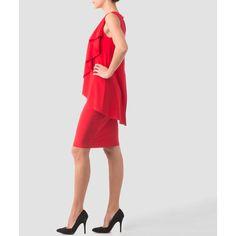 Joseph Ribkoff dress (€245) ❤ liked on Polyvore featuring dresses, lining dress, lined dress, joseph ribkoff dresses and joseph ribkoff