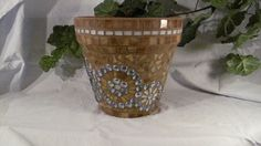 New Terracotta Handmade Mosaic Flower Pot/Planter. $79.99, via Etsy.