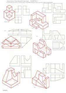Drawing Lessons, Drawing Tips, Cad Drawing, Line Drawing, Isometric Drawing Exercises, Orthographic Drawing, Architecture Drawing Art, Illustration Art, Design Illustrations