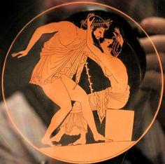 Ancient Greek Art, Ancient Greece, Greek Mythology Art, Greek Pottery, Art Antique, Roman Art, Bear Art, Sports Art, Erotic Art