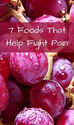 7 Foods That Help Fight Pain: olive oil,  ginger, coffee,  red grapes, tumeric, thyme,  salmon