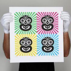 Sunshine Tiki Print by Greg Straight