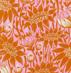 Coreopsis in Sugar from Loulouthi by Anna Maria by sewfreshfabrics, $2.75