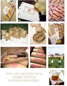 harry potter invites