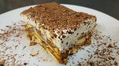 Δροσερό και λαχταριστό Μπισκοτογλυκό βήμα-βήμα! Greek Sweets, Greek Desserts, Cold Desserts, Greek Recipes, Sweets Cake, Sweet Life, No Bake Cake, Tiramisu, Meals