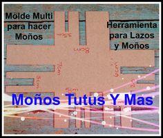 MOLDE DE CARTON EN CENTIMETROS Paso a Paso CARDBOARD HAIR BOW TEMPLATE T...
