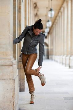 leather pants done right #garancedore #sartorialist