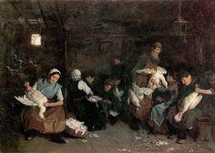 Women plucking geese - Max Liebermann