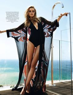 visual optimism; fashion editorials, shows, campaigns & more!: pool party: malene knudsen by jonas bie for eurowoman june 2014