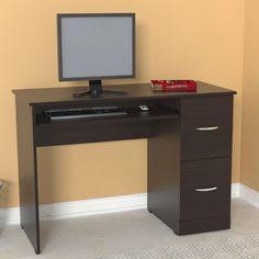 Have to have it. Inval America 45.56 in. Computer Desk - Espresso / Wengue - $154.99 @hayneedle