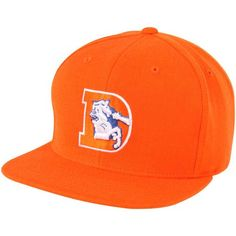 Mitchell   Ness Denver Broncos Throwback Basic Vintage Logo Snapback Hat -  Orange cf9129674