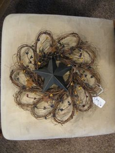 Star and twig wreath - re-purpose the Christmas ones!