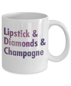 Amazon.com: Born To Wear Diamonds Coffee Mug, Lipstick and Diamonds And Champagne-White Porcelain Coffee Mug 11 oz For Daughter,Teen,Women: Kitchen Birthday Gift For Him, Friend Birthday Gifts, Anniversary Gift For Her, Gifts For Girls, Mother Day Gifts, Gifts For Mom, Mother's Day Mugs, Mugs Set, Coffee Mug Sets