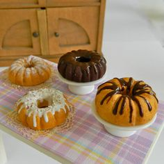 Hey, I found this really awesome Etsy listing at https://www.etsy.com/listing/218100776/miniature-bundt-cakes-for-hitty-18-scale