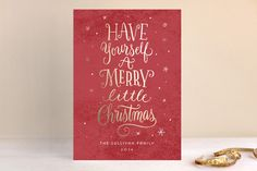 A Little Christmas Whimsy by Laura Bolter Design at minted.com