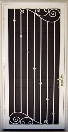 New house door design wrought iron ideas Front Gate Design, Steel Gate Design, Door Gate Design, Main Door Design, Window Grill Design Modern, Balcony Grill Design, Grill Door Design, Window Design, Wrought Iron Security Doors