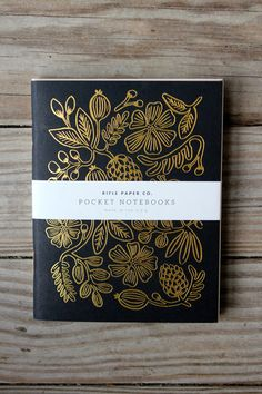 gold foil notebooks / rifle paper co.