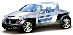 http://chicerman.com  carsthatnevermadeit:  Daihatsu D-Bone 2004.A minimalist sports car concept powered by a 650cc turbo-charged 3 cylinder engine  #cars