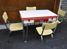 Lloyd Chrome Plated And Enamel Retro Diner Kitchen Table Legs