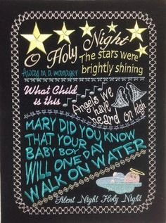 O Holy Night Chalkboard - SewAZ Designs | OregonPatchWorks