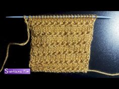 Cable Knitting, Knitting Videos, Crochet Videos, Knitting Stitches, Knitting Patterns, Crochet Crafts, Knit Crochet, Different Stitches, Stitch 2