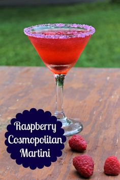 This raspberry cosmopolitan martini recipe is a refreshing and easy to make cock...