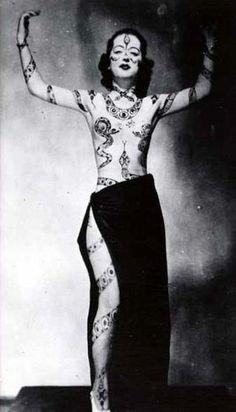 Vintage woman tattoo