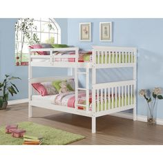 Mission Full Bunk Bed and Optional Storage Drawers or Twin Trundle | Overstock.com Shopping - The Best Deals on Kids' Beds