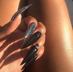 Nail Shapes - My Cool Nail Designs Perfect Nails, Gorgeous Nails, Pretty Nails, Acrylic Nails Stiletto, Long Acrylic Nails, Coffin Nails, Manicure Natural, Hair And Nails, My Nails