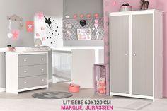 5db4985f3749e Chambre Bébé Gris Clair Avec Lit 60x120 pas cher - PriceMinister Chambre  Bébé Complete